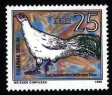 DDR Germany Allemagne Deutschland 1980. ** MNH. Pheasant Faisan Fasan - Hühnervögel & Fasanen