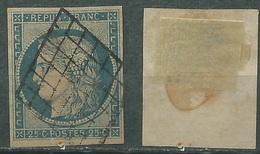 FRANCE Yvert # 4 (o) Oblitere - 1849-1850 Ceres