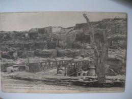 """CPA   Guadeloupe  St- Pierre   """" Aprés La Catastrophe Du 8 Mai 1902 - Le Pont Verger, Sur La Roxelane   """" - Guadeloupe"""