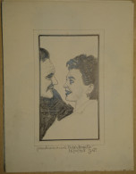 Dessin Au Crayon-Illustrateur -Jean Simmons Et Trevor Howard (5) - Dibujos