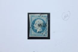 Timbre N° 14 Oblitéré PC 3738 Tenez Algérie - 1849-1876: Periodo Classico