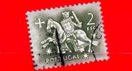 PORTOGALLO - Usato - 1953 - Sigillo Del Re Denis - 2 E - 1853 : D.Maria