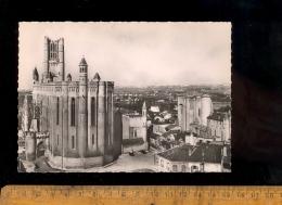 ALBI Tarn 81 : X 5 Cpsm Basilique Sainte Ste Cécile Abside Façade Porche Porte De Florence Intérieur Choeur Autel - Albi