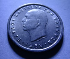 GREECE 1959 50 LEPTA, KING PAVLOS, UNC - Grèce