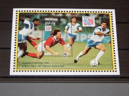 Maldives - 1994 Football World Cup (I) Block (2) MNH__(TH-14688) - Maldives (1965-...)