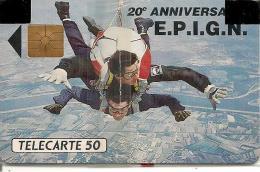 CARTE-PUCE-PRIVEE-PUBLIC- 50U-EN144-GEMA-08/91-E.P.IG.N-NSB-TBE - France
