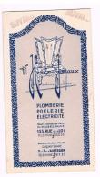 Petit Buvard Ancien, Henry JOMAUX, Plomberie-Poêlerie-Electricité, 133 Rue De La Loi / 5-7 Av. D'Auderghem, Bruxelles