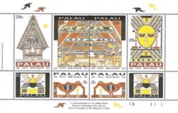 Palau,  Scott 2016 # 293,  Issued 1991,  S/S Of 8,   MNH,  Cat $ 5.00, - Palau