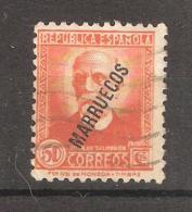 MAROC Espagnol / Marruecos 1938, Yvert N° 198, 50 C Orange, Obl, TB - Marruecos Español