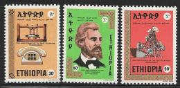Ethiopia, Scott # 768-70 MNH Telephone Centenary, 1976 - Ethiopia