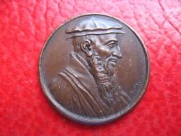 France Suisse Protestantisme - Médaille Guillaume Farel - 27,5mm 8g - Professionals / Firms