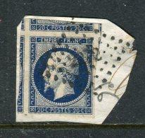 Superbe N° 14Ab Bleu Noir Avec 5 Voisins ! - 1853-1860 Napoléon III