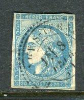 Rare N° 45C Cachet à Date Perlé De Blangy Sur Ternoise - Cote 800 Euros - 1870 Emisión De Bordeaux