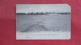 Steamer Vermont Passing Chimney Point Lake Champlain NY =ref 2198