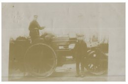(918) Very Old Postcard - Carte Ancienne  - UK - Old Engine ? Tractor ? (faded) - Trattori