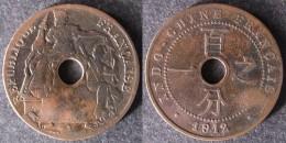 INDOCHINE  1 Cent 1912  INDOCINA  INDO-CHINA    PORT OFFERT - Colonies