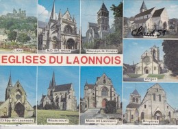 Eglises Du Laonnois (02) Laon-N.D De Liesse-Nouvion Le V;-Presles-Vorges-Bruyéres-Mons En La.-Royaucourt-Crépy En Laonno - Non Classés