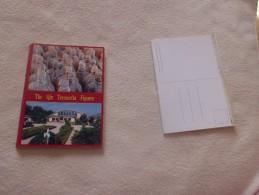 """CARNET (2 Morceaux) DE 26 CARTES """"THE QIN TERRACOTTA FIGURES"""" - Cartes Postales"""
