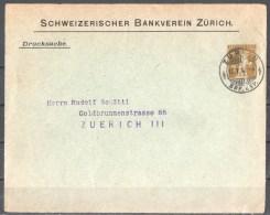 56-883 // CH - Vordere SEITE Vom BRIEF In ZUERICH - Schweizerischer Bankverein Zuerich 1912 - Schweiz