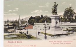 Postcard Ricordo Di Genoa Genova Piazza Del Principe Col Monumento A Deferrari Duca Di Galliera Liguria CPA - Genova (Genoa)