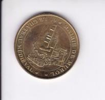 Jeton Médaille Monnaie De Paris MDp Mairie De Murol Le Château Médiéval Puy De Dome 2007 - Monnaie De Paris