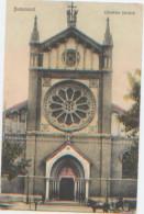 Roumanie, Romania, Bucuresci, Bucarest, Catedrala Catolica, Cathédrale, A Circulé En 1908, Ed. Librariei Centrala N°7092 - Roumanie