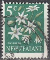 New Zealand 1967 Michel 462 O Cote (2005) 0.20 Euro Fleur Clematis Paniculata Cachet Rond - New Zealand
