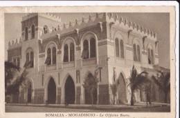 """CARTOLINA 1935 SOMALIA MOGADISCIO CONCENTRAMENTO MILITARE """" LE OFFICINE BOERO """" FIAT - Militari"""