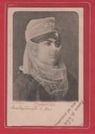 Dame Turque  --  Constantinople  --   Cachet Constantinople Galata  7 Mai 1900 - Asia