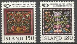 Iceland - 1980 Decorative Art Set Of 2 MNH **   Sc 532-3 - Unused Stamps