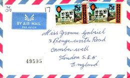 BARBADE. N°314 De 1970 Sur Enveloppe Ayant Circulé. George Washington. - George Washington