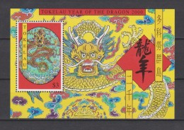Tokelau Block Mi 20 Lunar New Year - Year Of The Dragon 2000 ** - Tokelau