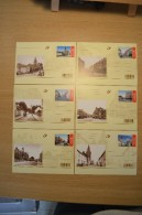 Cartes Postales 2005 - BK134/BK143 - Bertrix Châtelet Ekeren Lanaken Landen Lasne Lontzen Menen Philippeville Temse - Entiers Postaux