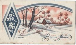 Carte De Voeux/Petit Format / Paysage De Neige /Bonne Année / J Gougeon/Vers 1950       CVE83 - Neujahr