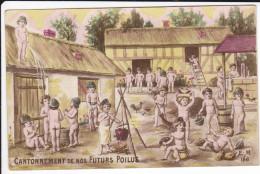 CPA CANTONNEMENT DE NOS FUTURS POILUS BEBES NUS A LA FERME POT DE CHAMBRE PROPAGANDE PATRIOTIQUE - Patriotiques