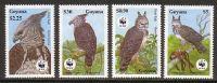 (WWF-089) W.W.F. Guyana MNH Bird Stamps 1990 - W.W.F.
