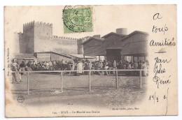 CPA Tunisie Sfax Marché Aux Grains Belle Animation édit Gaulis N°144 écrite Timbrée 1905 Dos Non Divisé - Tunisie