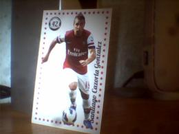 2 CARD FOOTBALL LIONEL MESSI; SANTIAGO CAZORIA GONZALEZ - Bierviltjes
