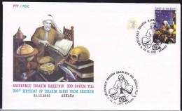AC - TURKEY FDC - 300th BIRTHDAY OF IBRAHIM HAKKI FROM ERZURUM ANKARA 24 DECEMBER 2003 - 1921-... República
