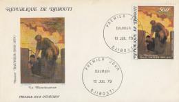 Enveloppe  FDC  1er  Jour   DJIBOUTI    Oeuvre  De  Honoré  DAUMIER    1979 - Djibouti (1977-...)