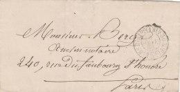 France 1866 Paris, Cad Taxation Locale De 15 C. (o137) - Storia Postale
