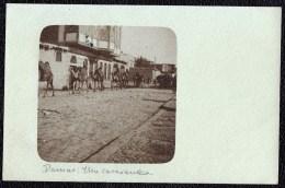 CPA SYRIE SURIA DAMAS DAMASCUS - VUE SUR UNE CARAVANE - SENT TO BELGIUM 1907 - Syrie