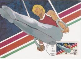 USA 1993 CARTE MAXIMUM ANNES PRE OLYMPIQUE    JO LOS ANGELES - Summer 1984: Los Angeles