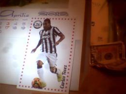 CARD FOOTBALL LUIS SUAREZ ; CARLOS TEVEZ - Bierviltjes