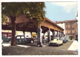GF (11) 107, Chalabre, Combier 668, Place Du Marché, La Halle, DS Traction Avant Citroen - Francia