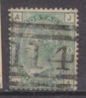Great Britain, Queen Victoria , 1874, 1/= Green, SG 150, Plate 9, Used,  Scottish Numeral 114 - Gebruikt