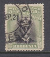 Sourthern Rhodesia, BSAC,  1913, Admiral, 5d Pale Green,  Die III, Perf 14, Used - Southern Rhodesia (...-1964)