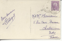 De Tunisie Marseille St Charles Paquebot 1928 - Postmark Collection (Covers)