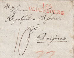 "France Deutschland Dept. Conquis 1812 ""129 OLDENBOURG"" Lettre Oldenburg Pour Ovelgönne (o161) - 1792-1815 : Departamentos Conquistados"