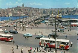 TURCHIA-ISTAMBUL-EMINONU AND BRIDGE-AUTOBUS-PUBBLICITA' MARTINI-MOLTE PIEGHE - Turkey